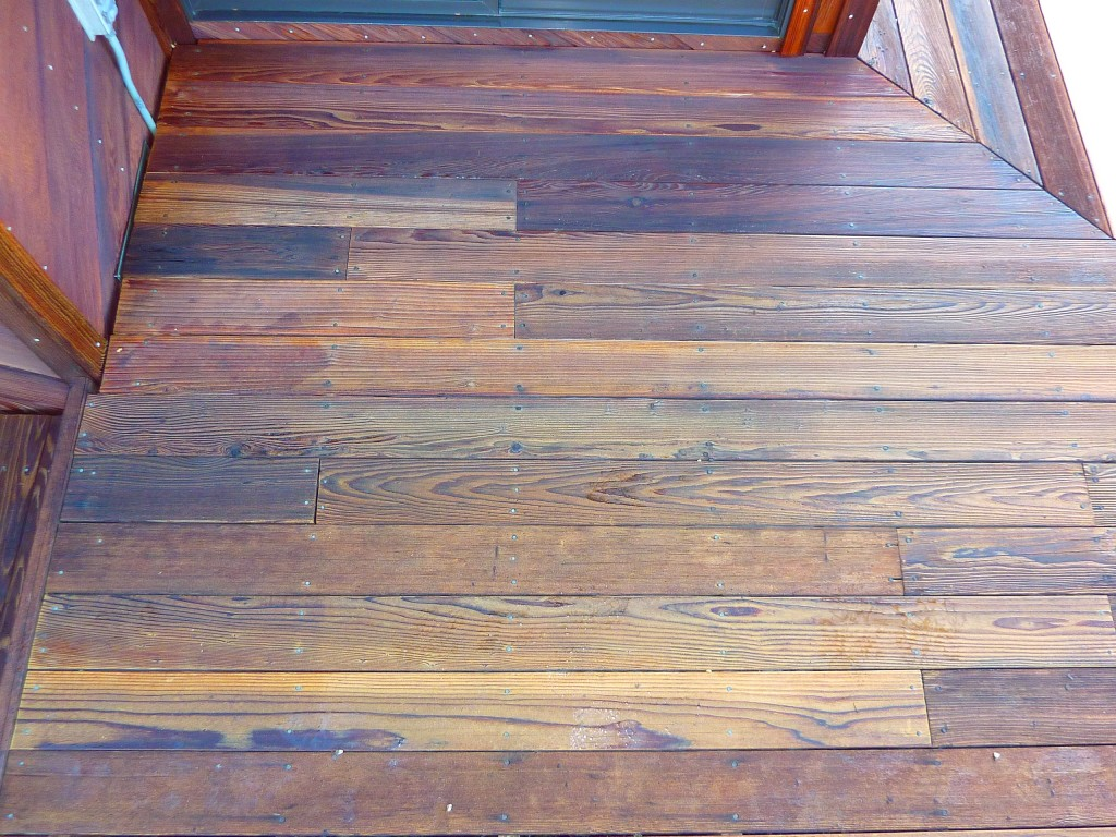 Redwood steps after restoring and staining