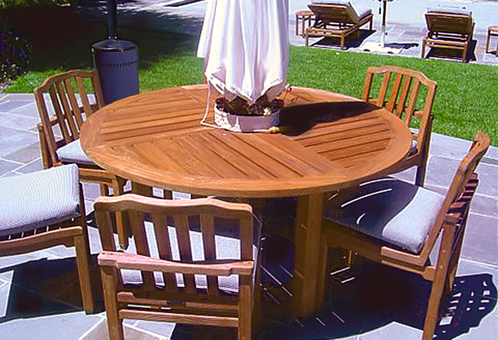 Teak patio furniture cal preserving for Teak outdoor furniture