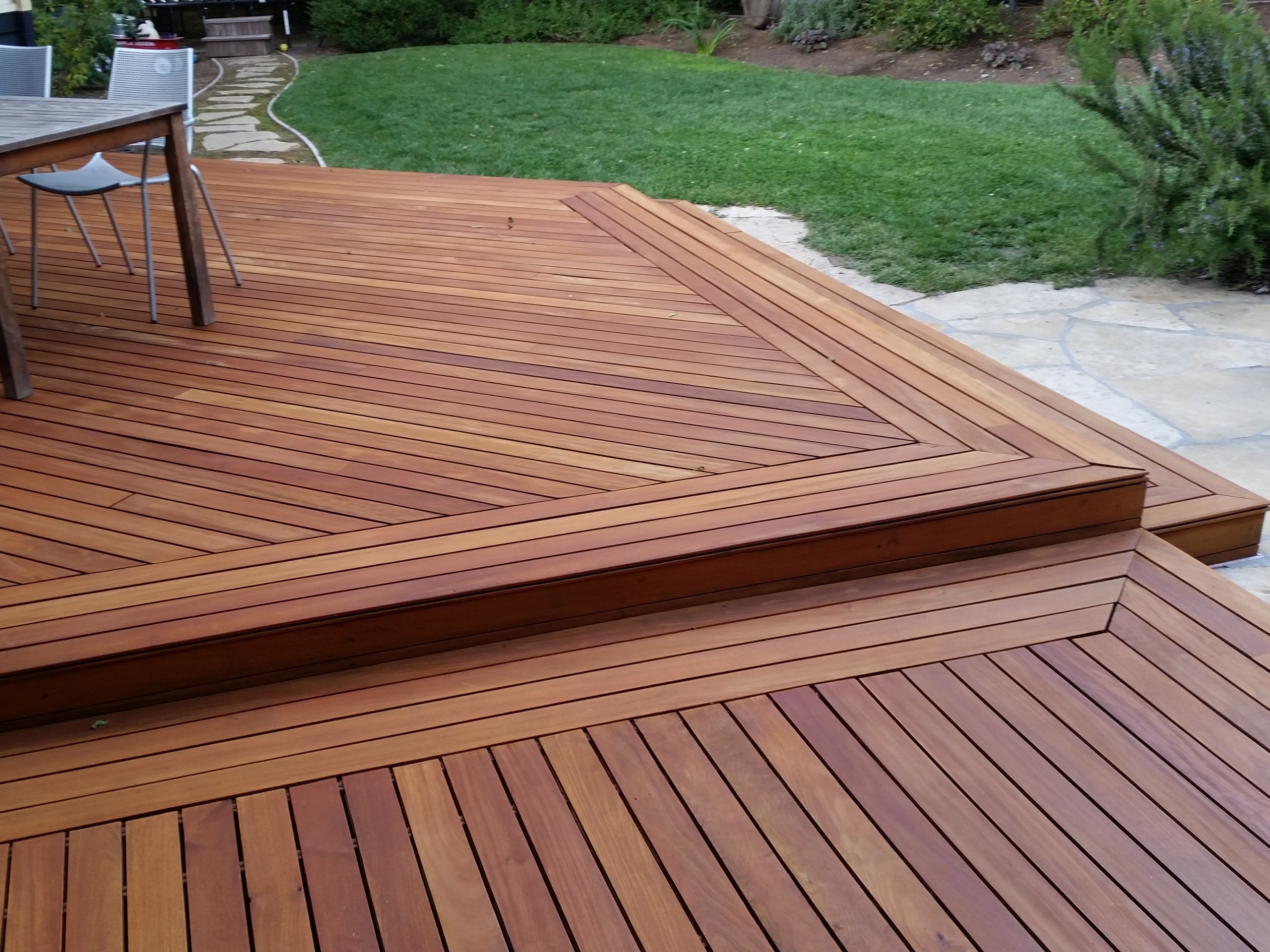 Hardwood garapa deck cal preserving for Best timber for decking