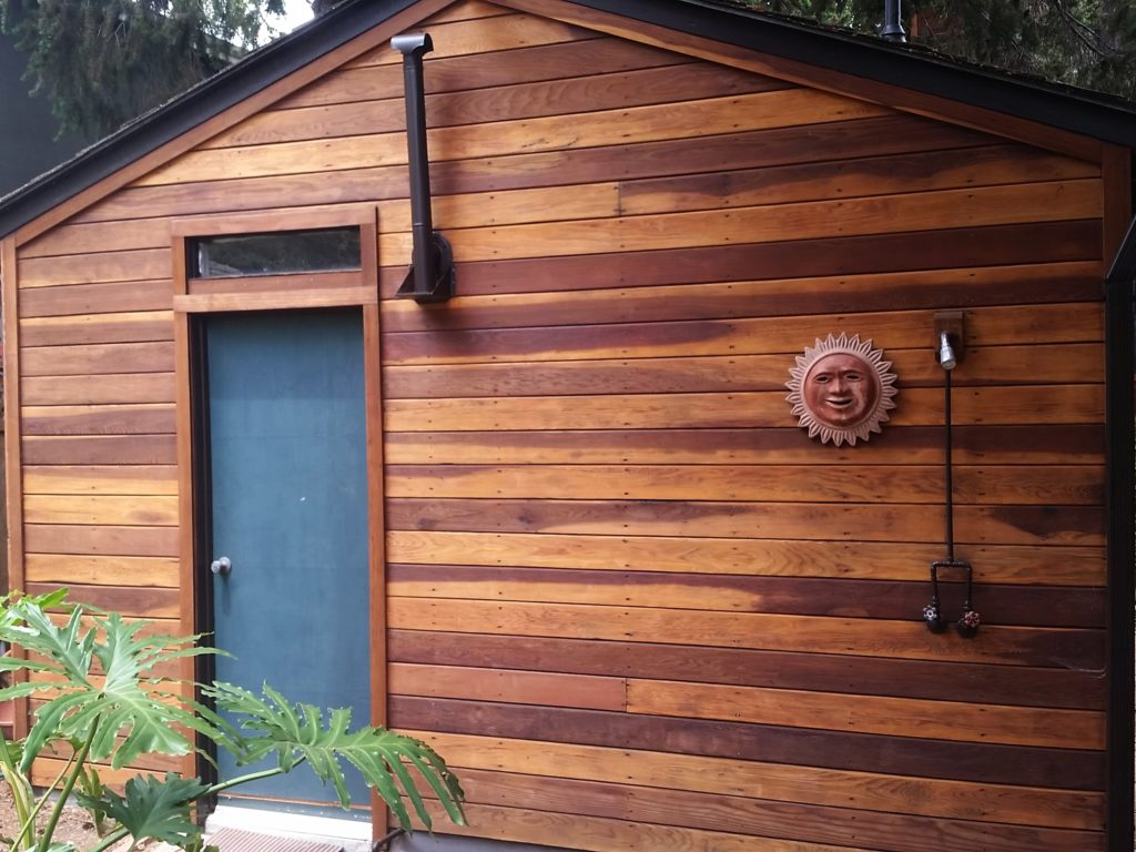 Stained House Siding : Redwood house cal preserving
