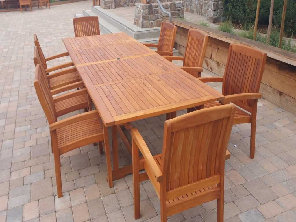 Refinishing teak patio furniture we specialize in teak for Teak wood patio furniture